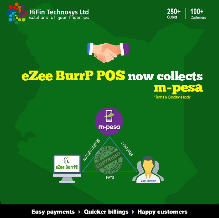 eZee BurrP Now Fully Integrated with M-PESA